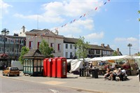Ripon on Market Day or Newby Hall